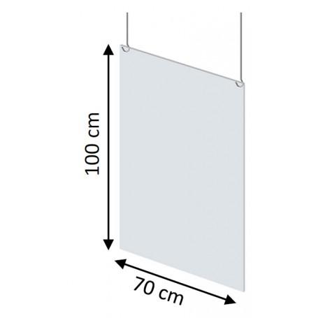 Paroi de protection suspendue transparente 70*100cm