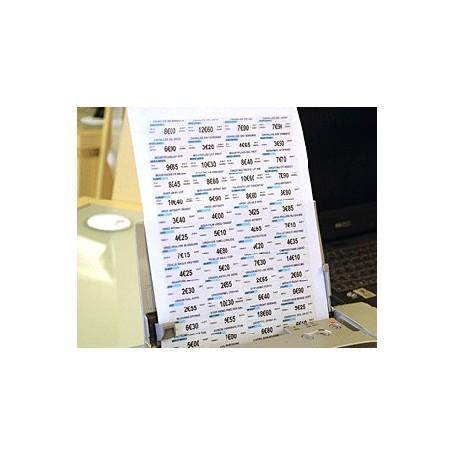 Boîte de 50 planches A4 - 3000 étiquettes 18x45 mm