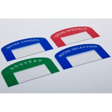 Lot de 24 Stop-rayons repositionnables - Pour étiquette de prix hauteur 18 mm