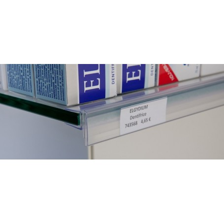 Lot de 10 réglettes transparentes clipsables plates - Dimensions au choix