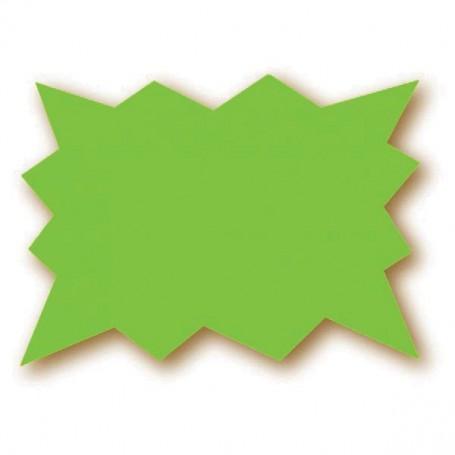 Paquet de 25 étiquettes vert fluo - 15x10 cm - forme éclatée