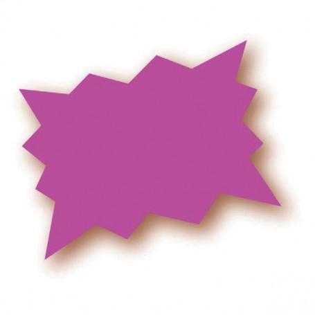 Paquet de 25 étiquettes rose fluo - 15x10 cm - forme éclatée