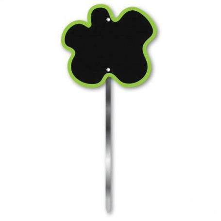 Paquet de 10 étiquettes, Fleur verte, 9x8cm