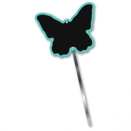 Paquet de 10 étiquettes, Papillon bleu, 10x8cm