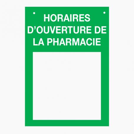 Plaques professionnelles pour officine, pharmacie