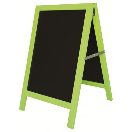 Chevalet de trottoir «Arlequin» encadrement bois vert, violet ou Orange