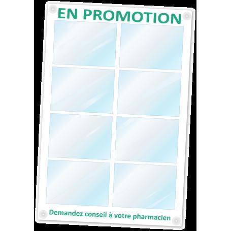 Panneau « En Promotion » Pharmacie 95 x 60 cm